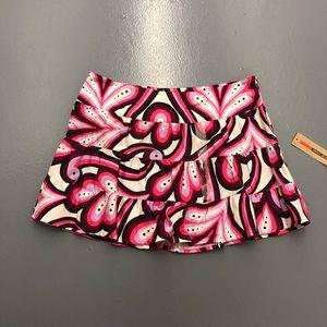 DKNY Jeans Pink Paisley Ruffle NWT Juniors Skirt